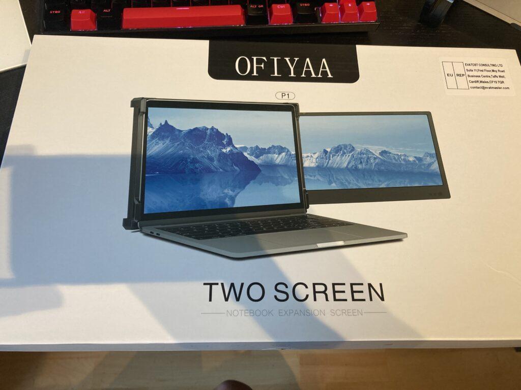 Verpackung des OFIYAA P1 Laptop Monitors