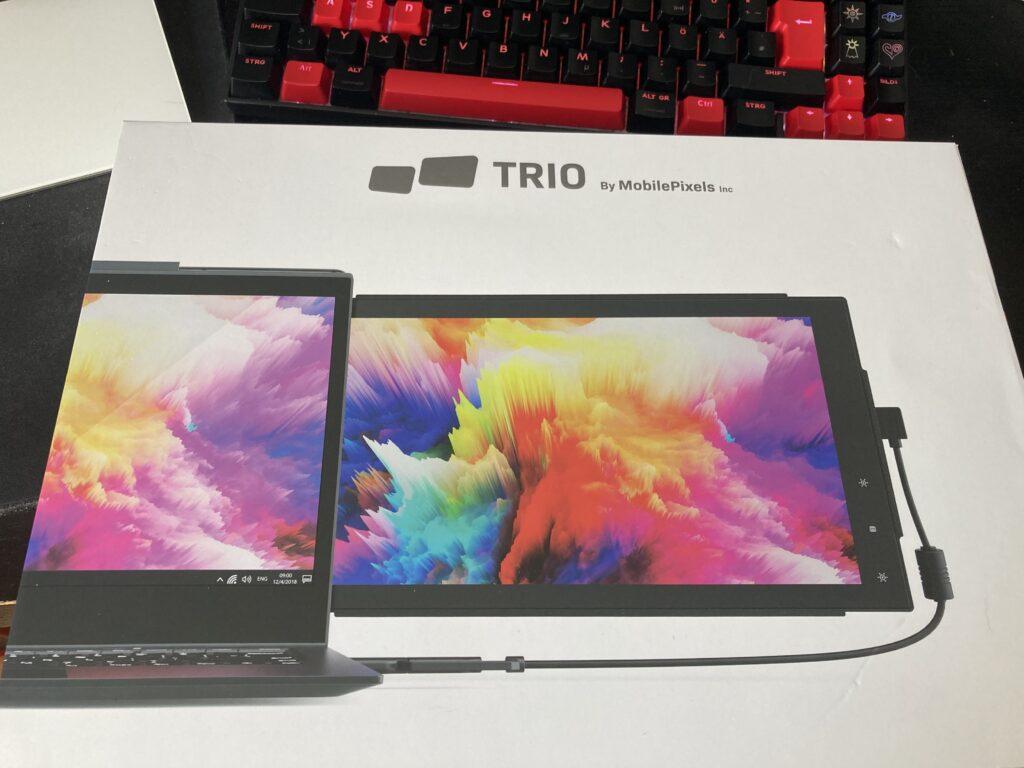 Verpackung des Mobile Pixels TRIO Laptop Monitors